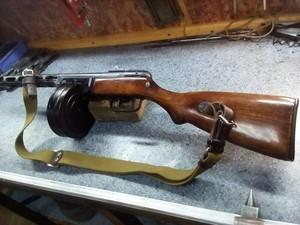 Пневматическая винтовка ППШ-М 4,5 мм (сделана из раритета)